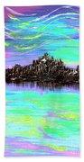 Aurora Borealis Poster Beach Towel