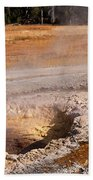 Aurum Geyser In Upper Geyser Basin In Yellowstone National Park Beach Towel