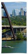 Austin From The 360 Bridge Beach Sheet