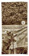 Austin Musicians At Bob Bullock Beach Towel