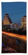 Austin, Texas Cityscape Evening Skyline Beach Sheet