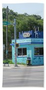 Austin Texas Congress Street Shop Beach Towel
