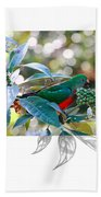 Australian King Parrot Beach Towel