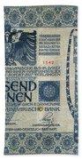 Austria Banknote, 1902 Beach Towel