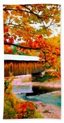 Authentic Covered Bridge Vt Beach Towel