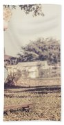 Authentic Faded Brown Vintage Skater Child Beach Towel