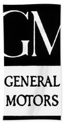 Automobiles Gm Logo Beach Towel