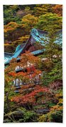 Autum In Japan Beach Towel
