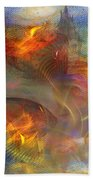 Autumn Ablaze - Square Version Beach Towel