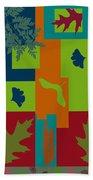 Autumn Abstract A La Matisse Beach Towel