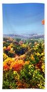 Autumn Across The Hills Beach Towel