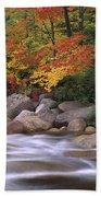 Autumn Along Swift River  Beach Towel