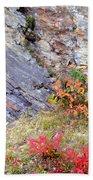 Autumn And Rocks Beach Towel