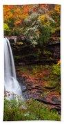 Autumn At Dry Falls - Highlands Nc Waterfalls Beach Towel