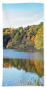 Autumn At Durand Beach Towel