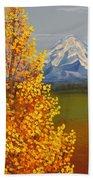 Autumn At Mt Shasta Beach Sheet