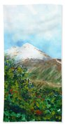 Autumn At The Foot Of Mount Elbrus Beach Towel