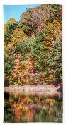 Autumn At The Pond  Beach Towel
