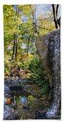 Autumn At The Waterfall Beach Towel