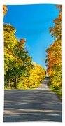 Autumn Back Road Beach Towel