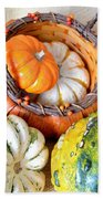 Autumn Basketful Beach Towel