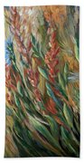 Autumn Bloom Beach Towel