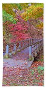 Autumn Bridge Beach Towel