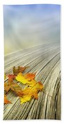 Autumn Bridge Beach Towel by Veikko Suikkanen
