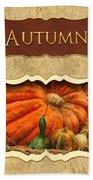 Autumn Button Beach Towel by Mike Savad