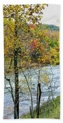 Autumn By The River Beach Towel