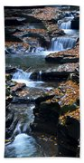 Autumn Cascade Beach Towel by Frozen in Time Fine Art Photography