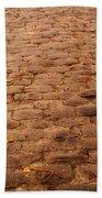 Autumn Cobble Stone Road II Beach Towel