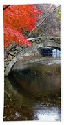 Autumn Color And Old Stone Arched Beach Sheet