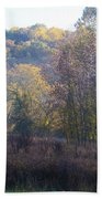 Autumn Colors Of Valley Forge Beach Towel by Bill Cannon