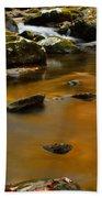 Autumn Colors On Little River Beach Towel