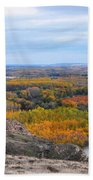 Autumn Colors On The Ebro River Beach Towel