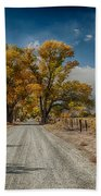 Autumn Country Road Beach Towel