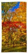 Autumn Cul-de-sac - Paint Beach Towel