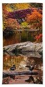 Autumn Duck Couple Beach Towel