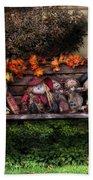 Autumn - Family Reunion Beach Towel by Mike Savad