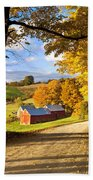 Autumn Farm In Vermont Beach Towel
