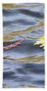 Autumn Floats Away Beach Towel