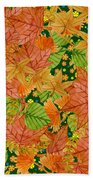 Autumn Floor Beach Towel