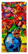 Autumn Flowers 7 Beach Towel