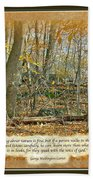 Autumn Forest - George Washington Carver Quote Beach Towel