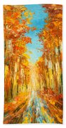 Autumn Forest Impression Beach Towel