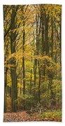 Autumn Gold Beach Towel