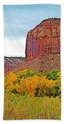 Autumn Gold On Highway 211 Going Into Needles District Of Canyonlands National Park-utah   Beach Towel