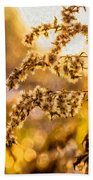Autumn Goldenrod - Paint  Beach Towel
