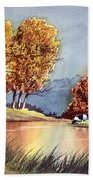 Autumn Golds Beach Towel